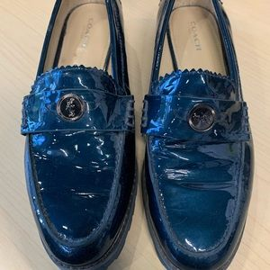 Coach Patent Leather Penny Loafers  7.5